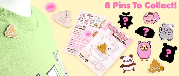 Buy Tofu Cute Enamel Pin Series 1 (Originals) - Kawaii Poop