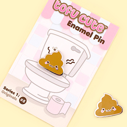 Tofu Cute Enamel Pin Series 1 - Kawaii Poop