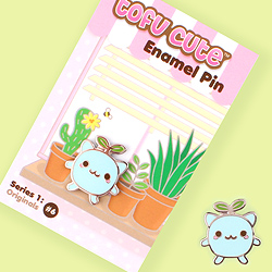 Tofu Cute Enamel Pin Series 1 - Seedling