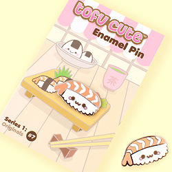 Tofu Cute Enamel Pin Series 1 - Nigiri