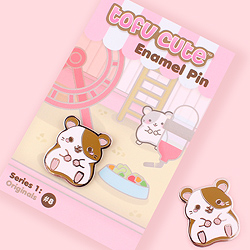 Tofu Cute Enamel Pin Series 1 - Hammy