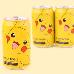 Pokemon Soda Can - Pikachu Waving Cider
