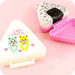 Cram Cream Onigiri Rice Ball Holder Set