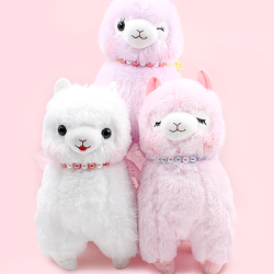 Alpacasso Alpaca Pearl Ribbon Giant Plush