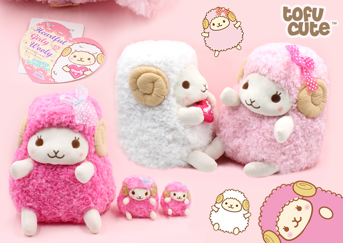 Amuse Heartful Girly Wooly Giant Plush