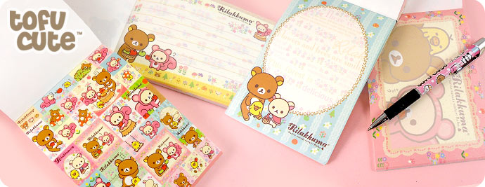Rilakkuma Memo Pad & Stickers - Squirrel