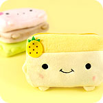 Kawaii Tofu Plush Zipped Purse