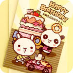 Bakery Tea Party 3D Birthday Card