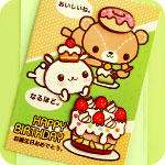 Kawaii Picnic in the Park 3D Birthday Card