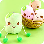 Kawaii Soybean Plush Phone Charm