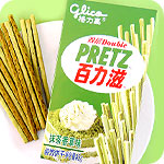 Glico Double Pretz - Matcha and Vanilla