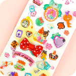 Bow & Jewel Stickers - Alice in Wonderland
