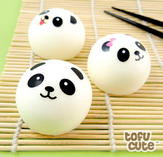 Buy Squishy Scented Panda Dim Sum Bun Phone Charm at Tofu Cute