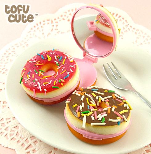 Squishy Donut Mirror : Buy Squishy Scented Doughnut Mirror Keychain at Tofu Cute