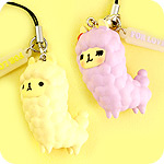 Kawaii Alpaca Duo Phone Charm Set