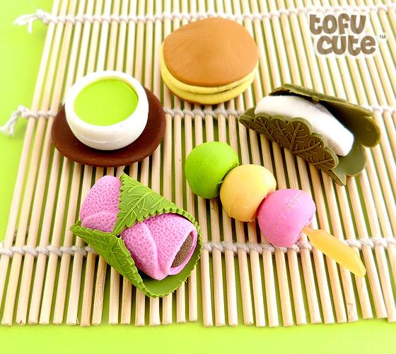 Buy Set Of 5 Traditional Japanese Food Kawaii Erasers At