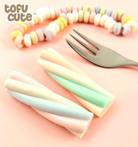 Buy Kawaii Marshmallow Twist Eraser Set At Tofu Cute