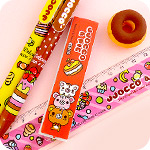 Kawaii Foods Korean Stationery Set