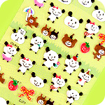 Lucky Animal Sponge Stickers - Pandas