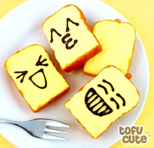 Buy squishy scented emoticon toast slice phone charm at tofu cute