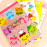 Kawaii Pudding Party Letter Paper Set