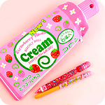 Kawaii Strawberry Cream Pencil Case