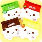 Kawaii Milk Carton Plush Coin Purse