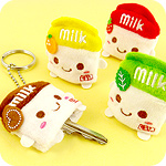 Kawaii Milk Carton Plush Key Holder