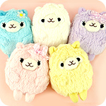 Pastel Alpaca Furry Multi-Purpose Case