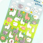 Kawaii Alpaca & Sheep Sponge Stickers