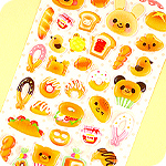 Kawaii Animal Bakery Sponge Stickers