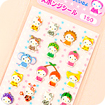 Hello Kitty Kigurumi Sponge Stickers