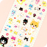 Kawaii Neko Kitty Squidgy Stickers