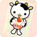 Kawaii Free-Standing Cow 3D Card