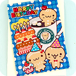 Metallic Gingerbread Coffee & Cake Card
