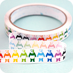Kawaii Deco Tape - Rainbow Panda