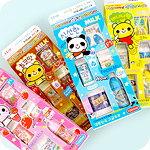 Kawaii Milk Carton Eraser Set
