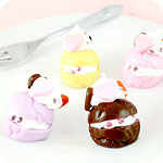 Sweet Petites Decora Cream Bun Charm