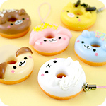 Kawaii Animal Doughnut Phone Charm