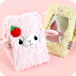 Arpakasso Alpaca Plush Folding Mirror