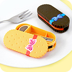 Kawaii Biscuit Pencil Sharpener & Eraser