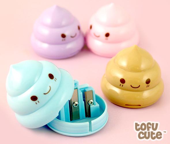 Buy kawaii pastel poop double pencil sharpener at tofu cute for Bureau kawaii