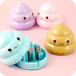 Kawaii Pastel Poop Pencil Sharpener