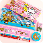Kawaii Bear Pencil Case & Stationery Set