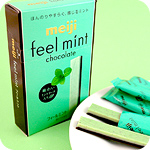 Meiji Feel Mint Chocolate Sticks