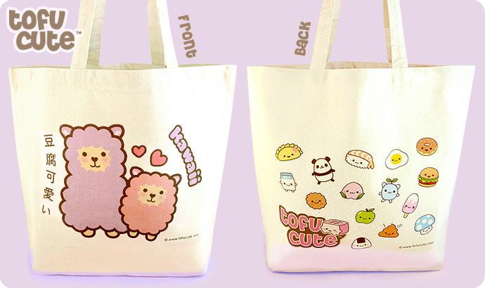 Tofu Cute Shopping Bag - Kawaii Alpaca
