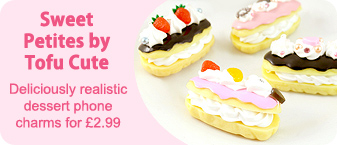 Sweet Petites realistic dessert phone charms for �2.99