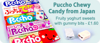 Puccho Japanese Chewy Yoghurt Candy, loads of flavours available - �1.60