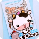Milk Bottle Cow 3D Greeting Card