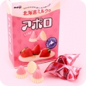 Apollo Strawberry Milk Tsubu Chocolates